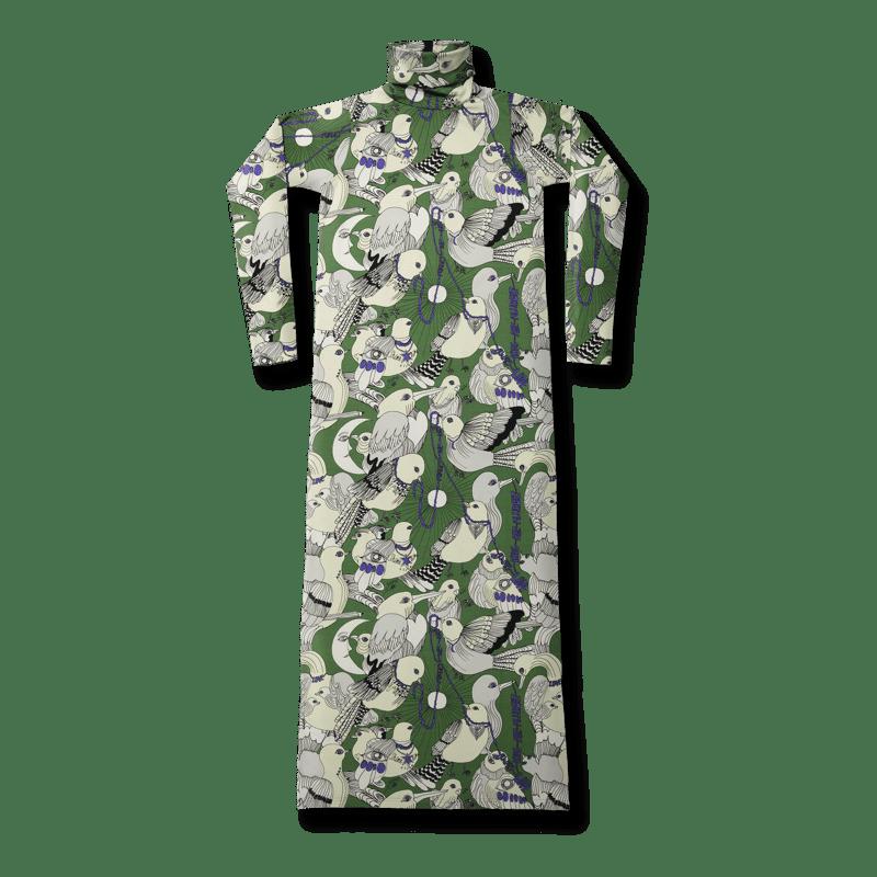 Vimma Polo neck dress KARLA Lentoon lähdössä green S-M - green, KARLA, Lentoon lähdössä, Polo neck dress, S-M
