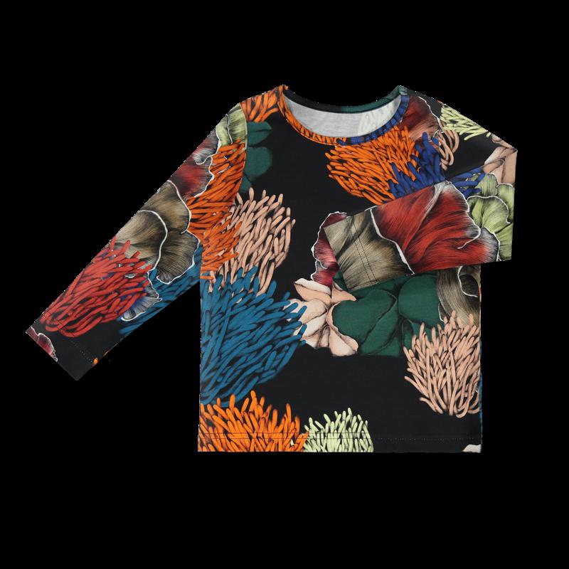 Vimma Long-Sleeve Shirt PAU Koralli black-colourful 80-140cm - 80-140cm, black-colourful, koralli, Long-Sleeve Shirt, PAU