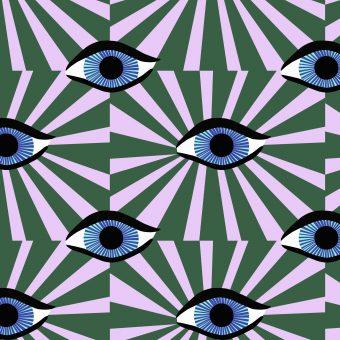 Vimma cotton textile äidin valvova silmä vihreä jersey - äidin valvova silmä, Cotton textile, Jersey, vihreä