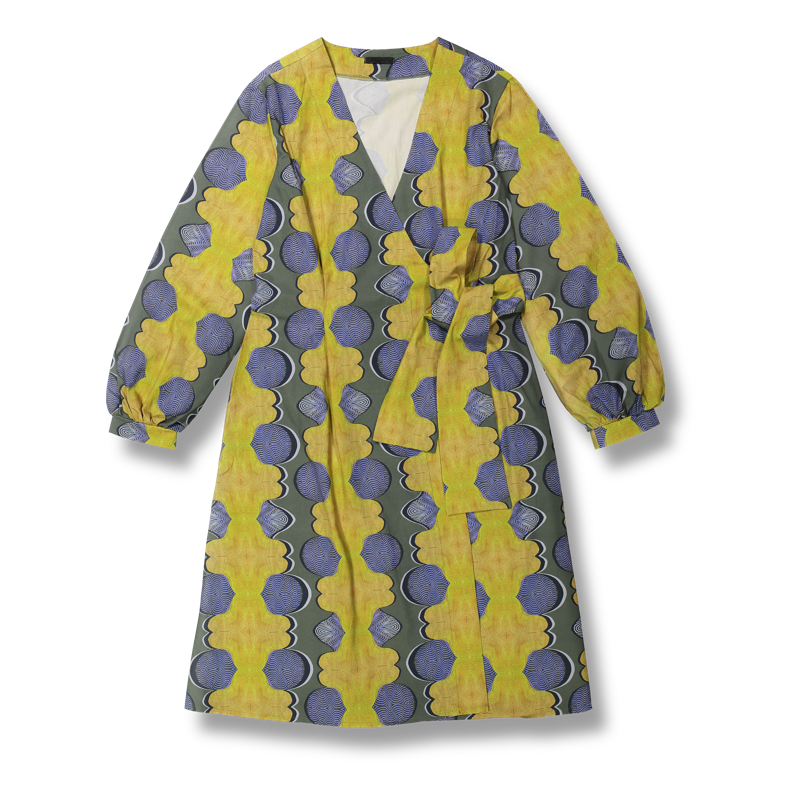 Vimma Wrapped Dress   INKERI   TEMPLATE   TEMPLATE   Onesize - INKERI, Onesize, TEMPLATE, Wrapped Dress