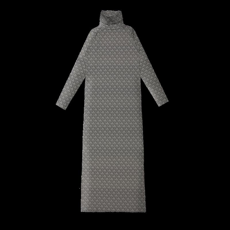84d147e14a Polo neck dress   Leopardi - black-white S-M - Vimma Company OY