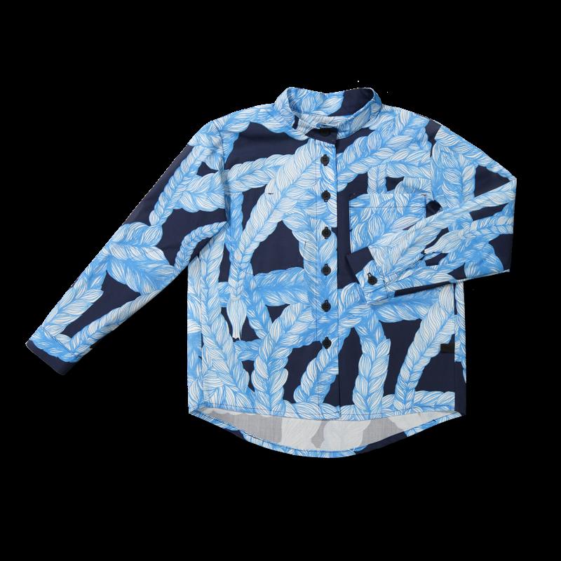 Vimma Botton-up shirt VEIKKO Letti blue-blue 90-150 cm - 90-150 cm, blue-blue, Botton-up shirt, letti, VEIKKO