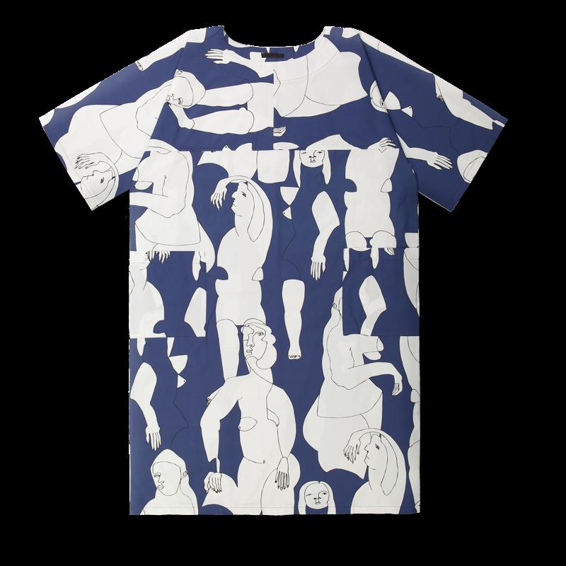 Vimma Dress LOTTA Hahmot blue-white Onesize - blue-white, Dress, Hahmot, LOTTA, Onesize