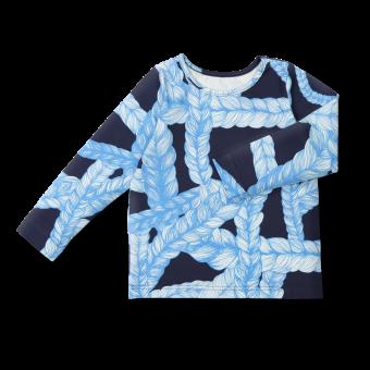 Vimma Long-Sleeve Shirt PAU Letti blue-blue 80-140cm - 80-140cm, blue-blue, braid, Long-Sleeve Shirt, PAU