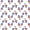 Vimma Cotton textile TURVAKAVERI white-colorful joustocollege - Cotton textile, joustocollege, TURVAKAVERI, white-colorful