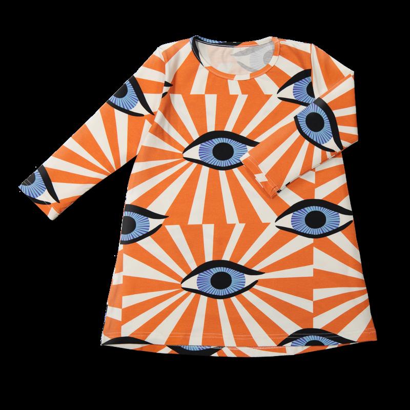 Vimma Tunic dress RUU Äidin valvova silmä red 80-140cm - 80-140cm, äidin valvova silmä, red, RUU, tunic-dress