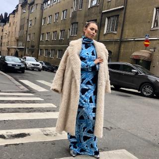 Vimma Polo neck dress KARLA Letti blue-blue S-M - blue-blue, braid, KARLA, Polo neck dress, S-M