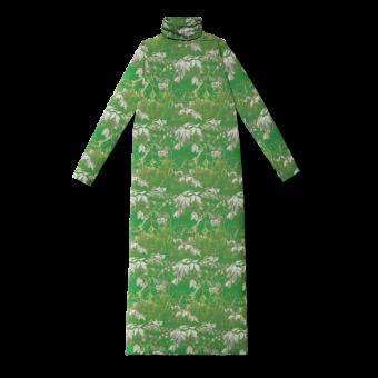 Vimma Polo neck dress KARLA siellä jossain green S-M - green, KARLA, Polo neck dress, S-M, siellä jossain