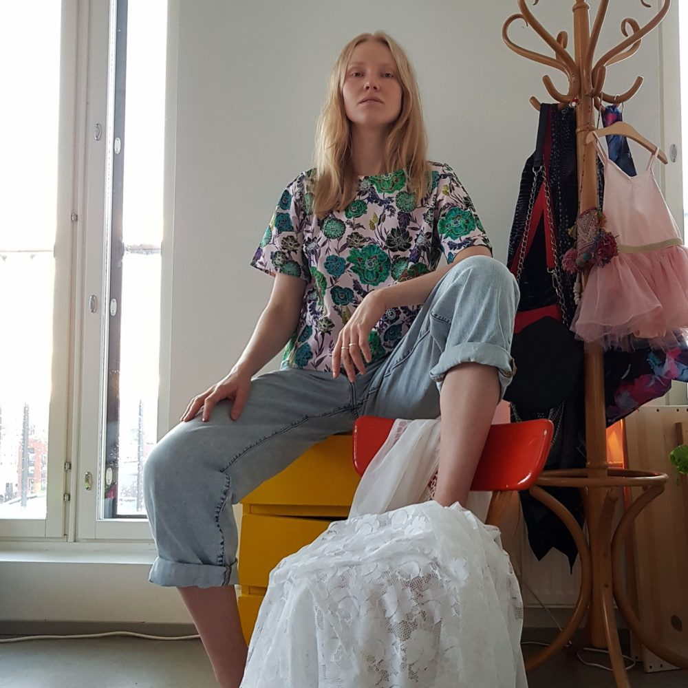 Vimma Shirt Short sleeved SINI Wild Flowers rosa-colourful S-M - rosa-colourful, S-M, Shirt / Short sleeved, SINI, Wild Flowers