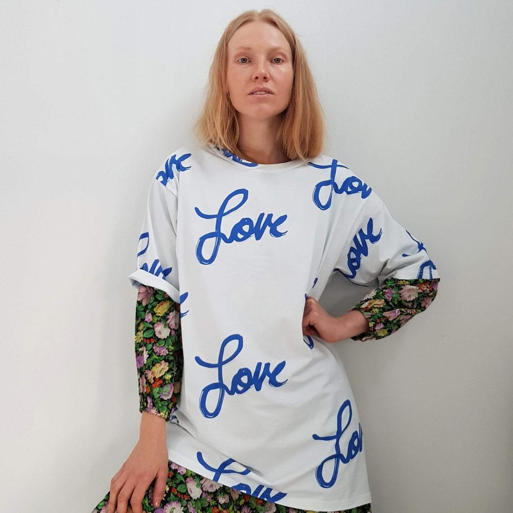 Vimma T-shirt Unisex RAUHA love blue-white Onesize - blue-white, love, Onesize, RAUHA, T-shirt / Unisex