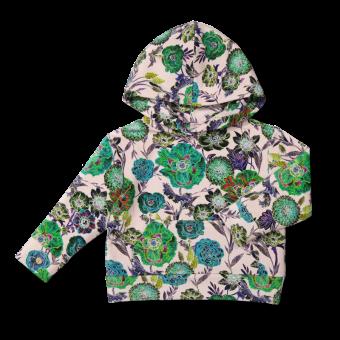 Vimma hoodie PIETU Wild Flowers pink 90-150 - 90-150, hoodie, PIETU, pink, Wild Flowers