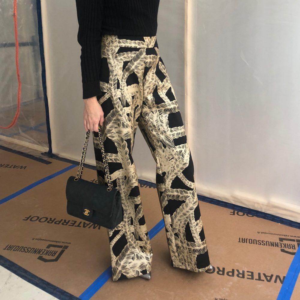 Vimma trousers ILONA letti black-gold S-L - black-gold, braid, ILONA, S-L, trousers