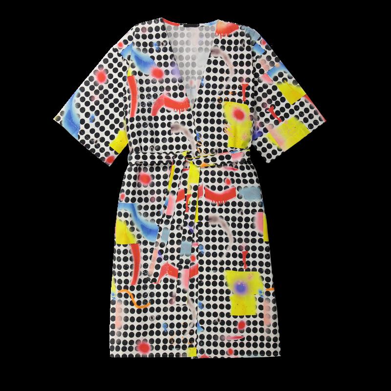 Vimma Kaftan ELSA Dots colorful Onesize - colorful, Dots, ELSA, Kaftan, Onesize