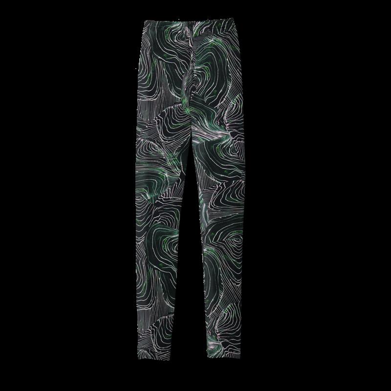 Vimma leggings KAINO Take me away from here dark green XS-XL - dark green, KAINO, leggings, Take me away from here, XS-XL