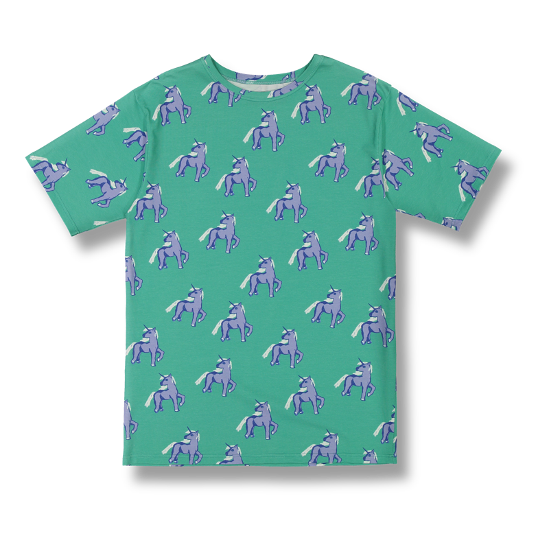 Vimma T-shirt Unisex RAUHA Unicorns forever turkoosi-lila Onesize - Onesize, RAUHA, T-shirt / Unisex, turkoosi-lila, Unicorns forever