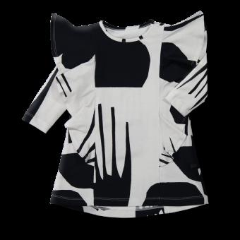 Vimma Ruffle Dress JULIA Terrain black-white 90-140cm - 90-140cm, black-white, JULIA, Ruffle Dress, Terrain