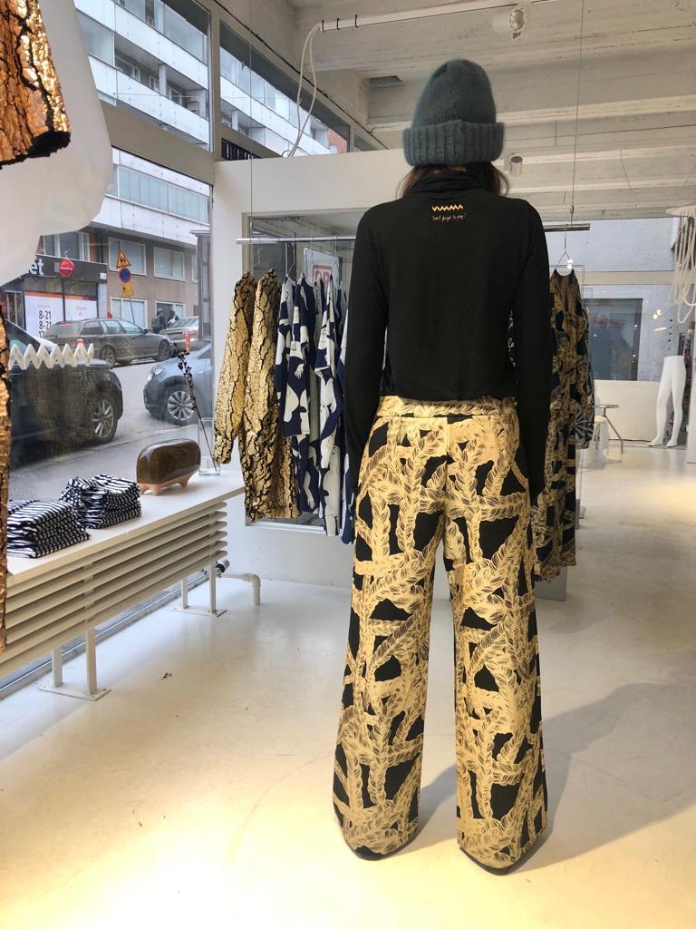 Vimma trousers ILONA letti black-gold S-L - black-gold, ILONA, letti, S-L, trousers
