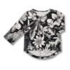Vimma Long sleeved UTU Mystical Flowers black-white 80-140cm - 80-140cm, black-white, Long sleeved, mystical-flowers, UTU