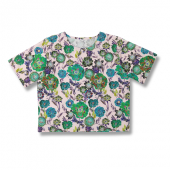 Vimma Shirt Short sleeved SINI Wild Flowers rosa-colourful S-M - rosa-colourful, S-M, Shirt / Short sleeved, SINI, Wild Flowers