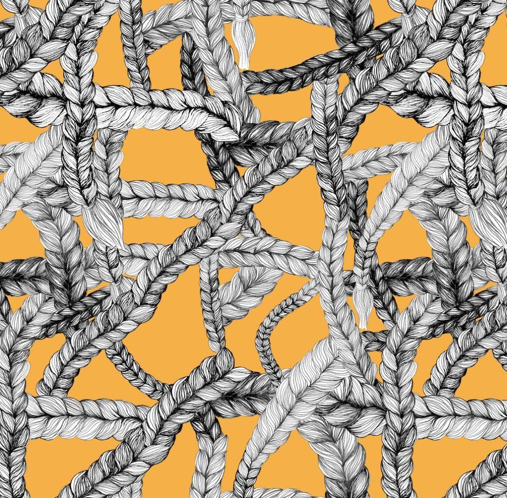 Vimma Cotton textile Letti mandariini Jersey - Cotton textile, Jersey, letti, mandariini