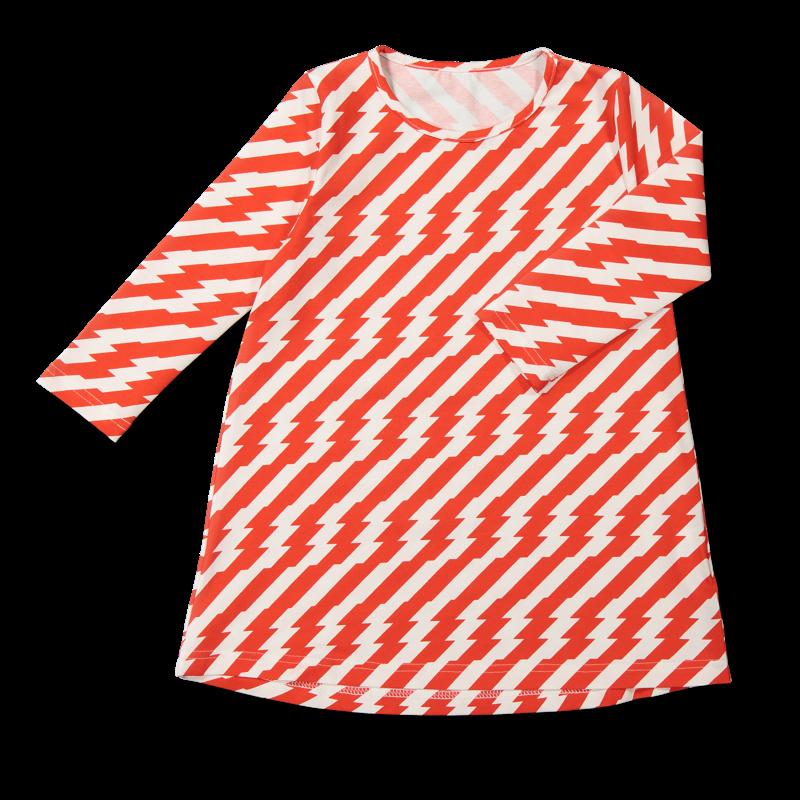Vimma Tunic dress RUU Sähköä ilmassa red-white 80-140cm - 80-140cm, red-white, RUU, Sähköä ilmassa, tunic-dress