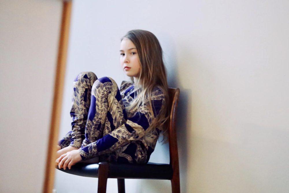 Vimma Long-Sleeve Shirt PAU letti lila-kulta 80-140cm - 80-140cm, braid, lila-kulta, Long-Sleeve Shirt, PAU