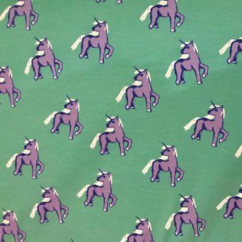 Vimma Cotton textile Unicorns forever turquoise-lilac Jersey - Cotton textile, Jersey, turquoise-lilac, Unicorns forever