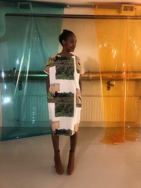 Vimma Dress PÄIVIÖ Muisto vihreä-valkoinen Onesize - Dress, Muisto, Onesize, PÄIVIÖ, vihreä-valkoinen