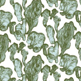 Vimma Cotton textile Kanttarellit pink-green Jersey - Cotton textile, Jersey, Kanttarellit, pink-green