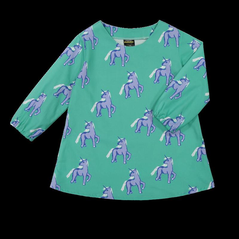 Vimma Dress KAIJA Unicorns forever turkoosi-lila 100-150 cm - 100-150 cm, Dress, KAIJA, turkoosi-lila, Unicorns forever