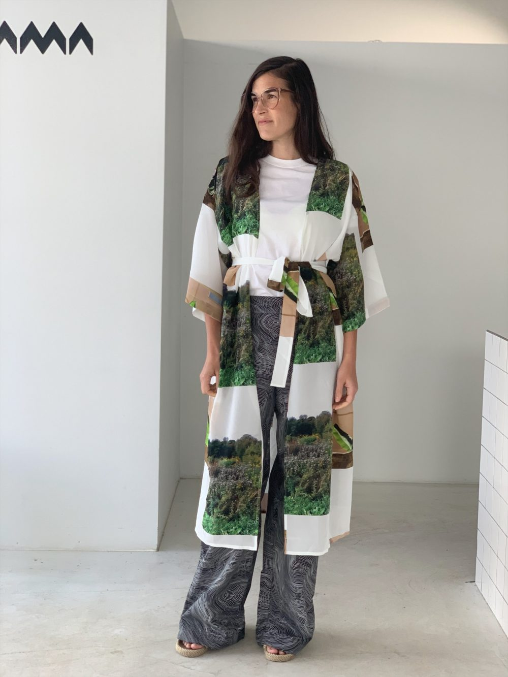 Vimma Kaftan Silk ELSA Muisto white-green Onesize - ELSA, Kaftan / Silk, Muisto, Onesize, white-green