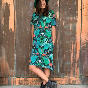Vimma T-shirt dress ONNI Jungle green-colourful Onesize - green-colourful, Jungle, Onesize, ONNI, t-shirt-dress