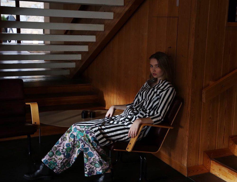 Vimma Dress LILJA striped black-white XS-L - black-white, Dress, LILJA, Striped, XS-L