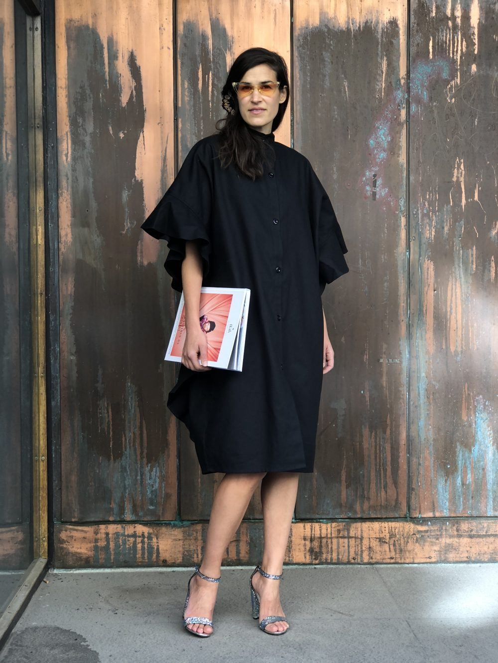 Vimma Ruffle Dress IRINA Cotton black Onesize - black, Cotton, IRINA, Onesize, Ruffle Dress