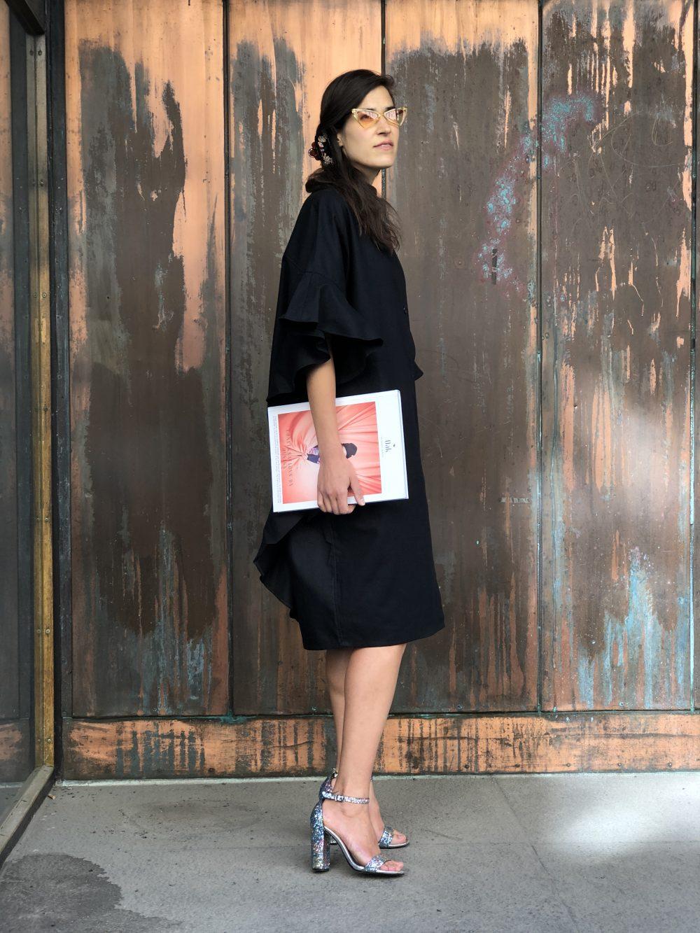 Vimma ENNAKKOMYYNTI Ruffle dress IRINA one-colored black Onesize - black, ENNAKKOMYYNTI Ruffle dress, IRINA, one-colored, Onesize