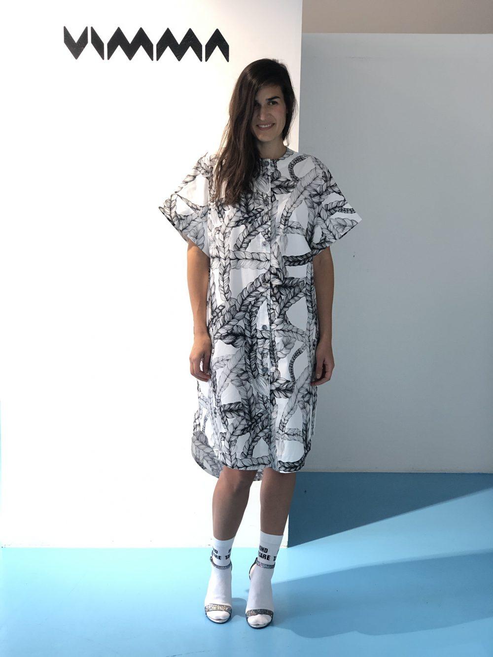 Vimma Dress SAARA letti black-white one size - black-white, braid, Dress, one size, SAARA