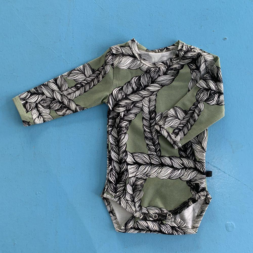 Vimma Body REI letti maitoväri-vihreä 60-90 - 60-90, body, braid, maitoväri-vihreä, REI