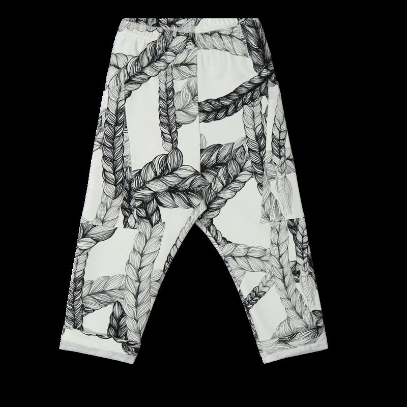 Vimma College pants LASSI braid black-white 90-150 cm - 90-150 cm, black-white, braid, College pants, LASSI