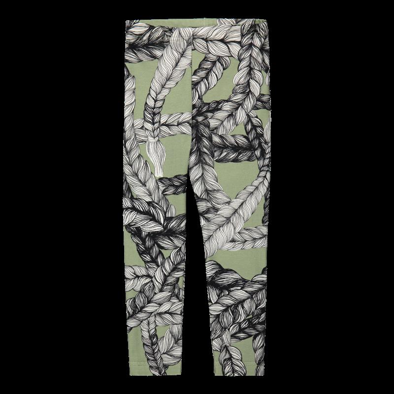 Vimma leggins ELO braid maitoväri-vihreä 80-150cm - 80-150cm, braid, ELO, leggins, maitoväri-vihreä