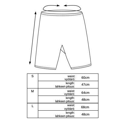 Vimma Biking shorts Elvi TEMPLATE TEMPLATE S-L - Biking shorts, Elvi, S-L, TEMPLATE