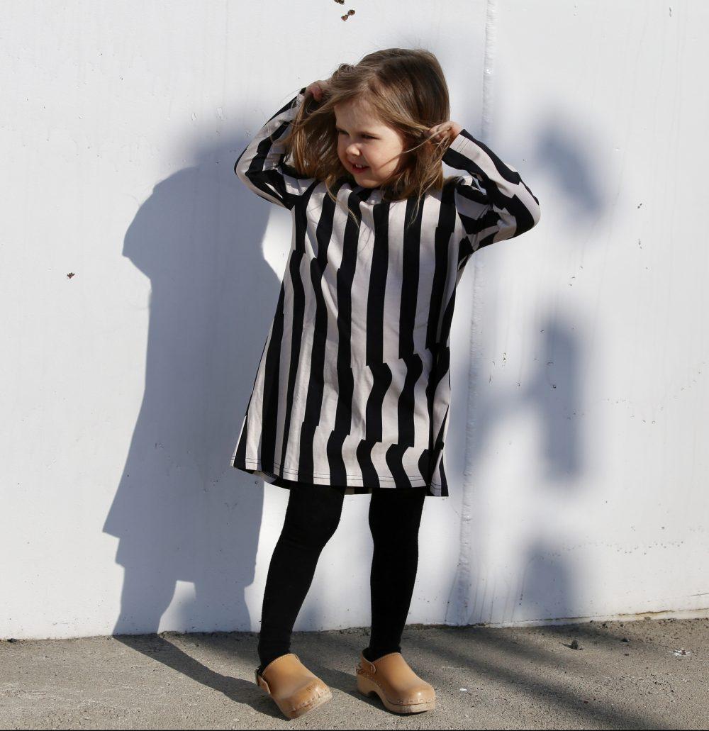 Vimma Tunic dress RUU Crease black-nude 80-140cm - 80-140cm, black-nude, Crease, RUU, tunic-dress
