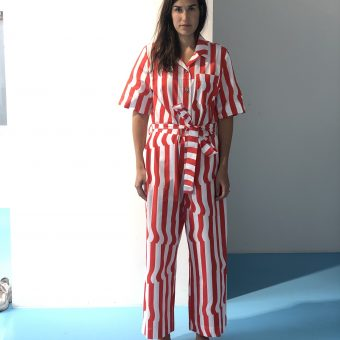 Vimma UUTTA Jumpsuit HARRI Crease red-white S-L - Crease, HARRI, red-white, S-L, UUTTA Jumpsuit