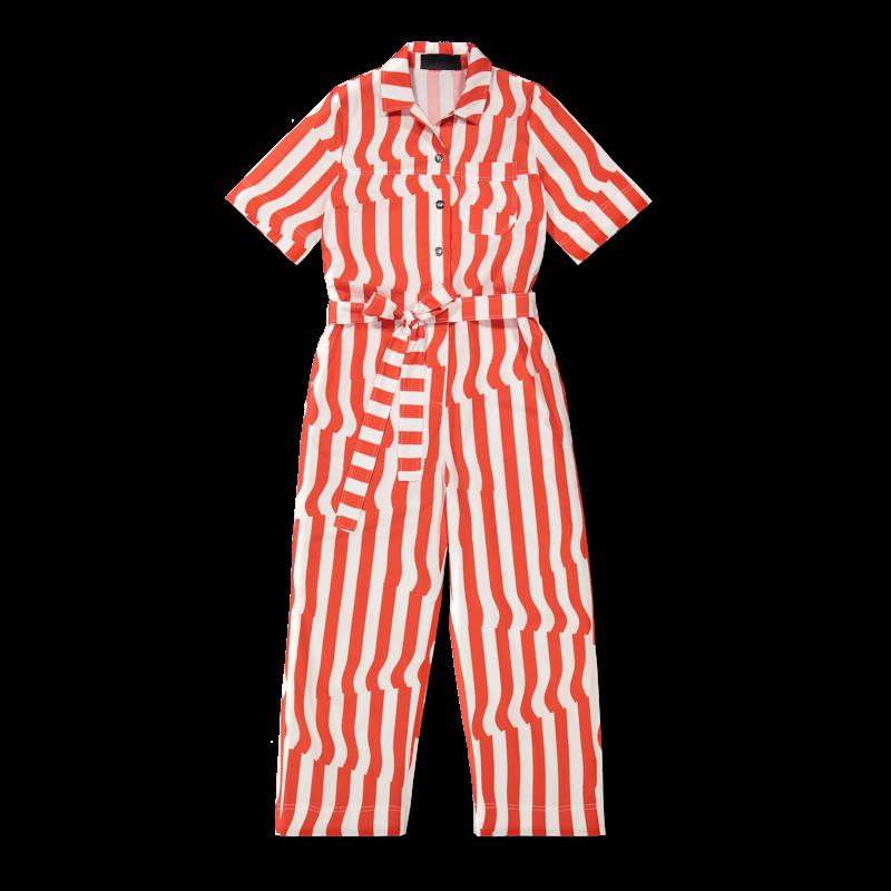 Vimma UUTTA Jumpsuit HARRI Crease red-white S-L - Crease, HARRI, red-white, S-L, UUTTA Jumpsuit