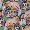Vimma Cotton textile Eyes&hands pink Vowen cotton - Cotton textile, Eyes&hands, pink, Vowen cotton
