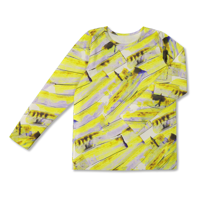 Vimma Long-Sleeve Shirt PAU Aoi yellow 80-140 cm - 80-140 cm, Aoi, Long-Sleeve Shirt, PAU, yellow