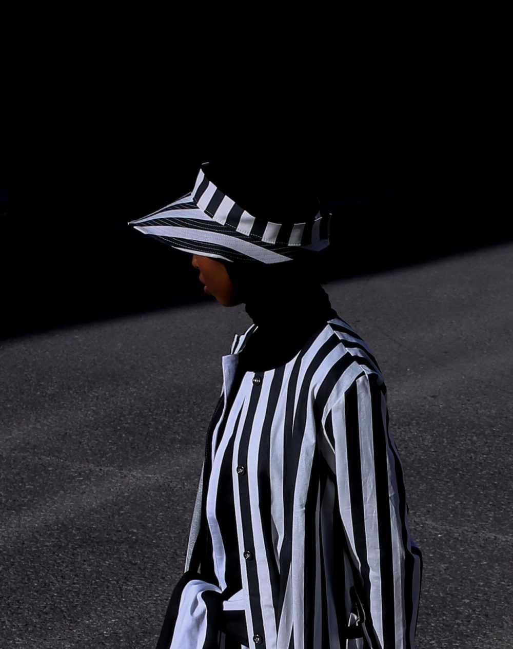 Vimma ANTON suncap Striped black-white Onesize - ANTON suncap, black-white, Onesize, Striped
