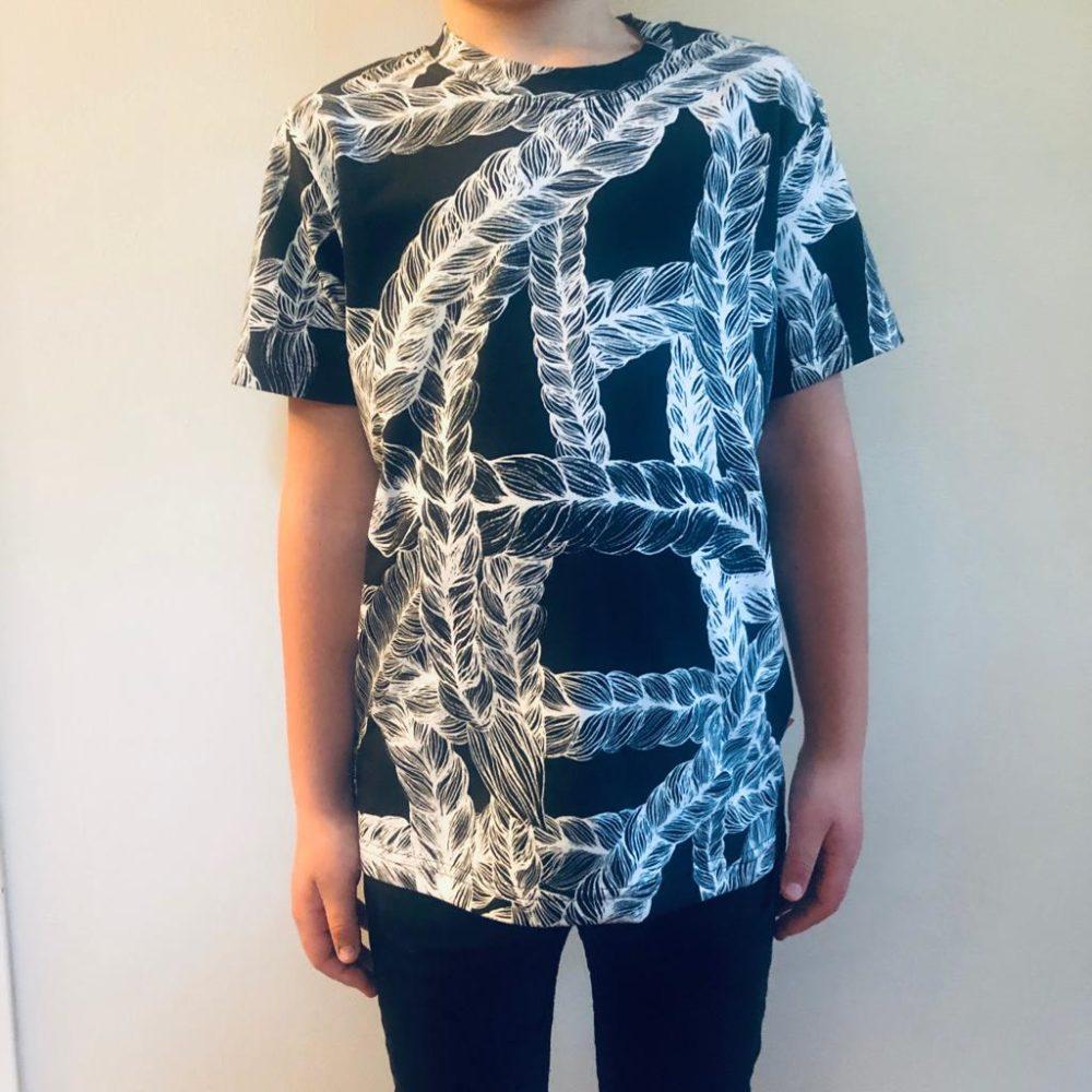 Vimma t-shirt LIU letti black 80-140cm - 80-140cm, black, braid, LIU, t-shirt