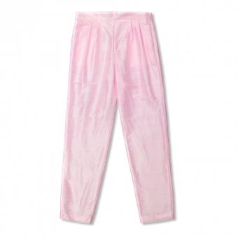 Vimma Trousers silk LIISA one-colored pink S-L - Liisa, one-colored, pink, S-L, Trousers silk