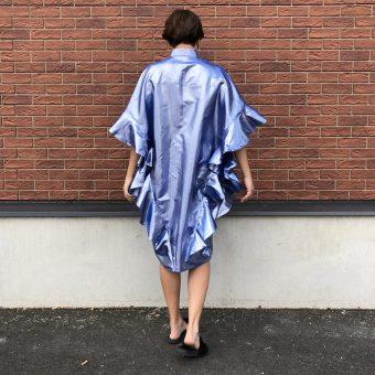 Vimma Ruffle Dress IRINA metallic Ice blue Onesize - Ice blue, IRINA, metallic, Onesize, Ruffle Dress