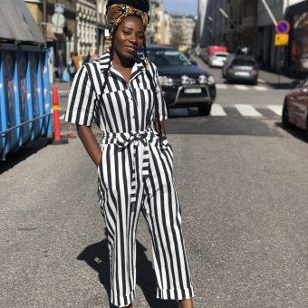 Vimma UUTTA Jumpsuit HARRI Stripes black-white S-L - black-white, HARRI, S-L, Stripes, UUTTA Jumpsuit